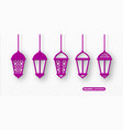 3d arabic lanterns with traditional patterns vector image vector image