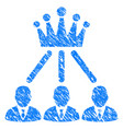 administration crown grunge icon vector image vector image
