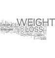 are advertisers to blame for americans weight vector image vector image
