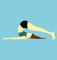 back body stretches pose yoga posture vector image vector image