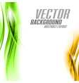 background orange green sided vector image vector image
