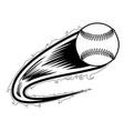 baseball ball with an effect icon vector image