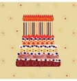 Birthday cake with fifteen candles Fifteen years vector image vector image
