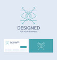 business eye look vision business logo line icon vector image