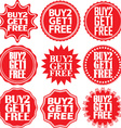 Buy 2 get 1 free red label Buy 2 get 1 free red vector image vector image