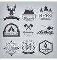 Camping and hunting logos vector image vector image