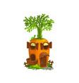 cartoon carrot gnome house vector image