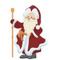 cartoon santa claus christmas vector image