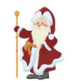 cartoon santa claus christmas with a vector image vector image
