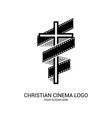 christian cinema logo symbols of movies vector image