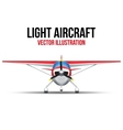 Civil Light Aircraft vector image vector image