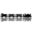 classic passenger steam train vector image vector image