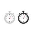 clock icon set timer watch vector image vector image