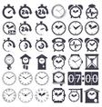 Clock set vector image vector image