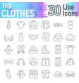clothes thin line icon set cloth symbols vector image