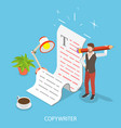 content creating flat isometric conceptual vector image vector image