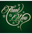 Creative Thank You greeting vector image