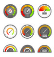 credit indicator speedometer score gauge level vector image