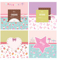 cute templates set for girls can be used for vector image vector image