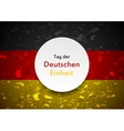 Day of German unity abstract design Tag der vector image vector image