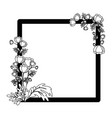 decorative frame with flowers icon vector image vector image