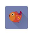fish flat icon vector image vector image