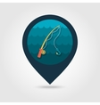 Fishing Rod pin map icon Summer Vacation vector image vector image