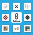 Flat icon entertainment set of poker lottery