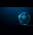 football from lines triangles and particle style vector image