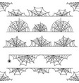 halloween cobweb frame border and dividers vector image vector image
