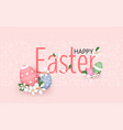 happy easter colourful eggswith different texture vector image