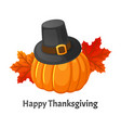 happy thanksgiving day poster with signs vector image vector image