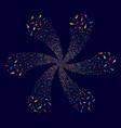 human centrifugal stream vector image vector image