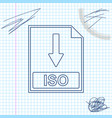 iso file document icon download iso button line vector image vector image