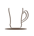 isolated coffee mug icon vector image vector image