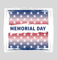 memorial day vintage grunge poster vector image