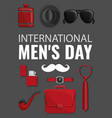 mens day concept background cartoon style vector image vector image