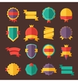Modern flat design badges collection vector image