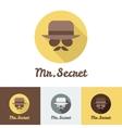 modern flat man face logo set for clothes or vector image vector image