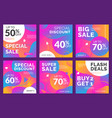modern sales banner social media vector image vector image