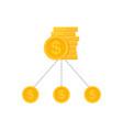 money diversification revenue budget split vector image