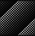 monochrome geometrical seamless dot pattern vector image vector image