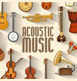 music acoustic and stringed musical instruments vector image vector image