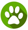 New Paw icon button flat vector image