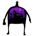 night man silhouette vector image vector image