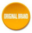 original brand orange round flat isolated push vector image vector image