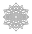 outline abstract mandala vector image vector image