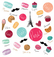 Paris background design vector image