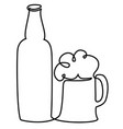 pint beer one line drawing vector image