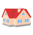 private cottage house with red roof vector image